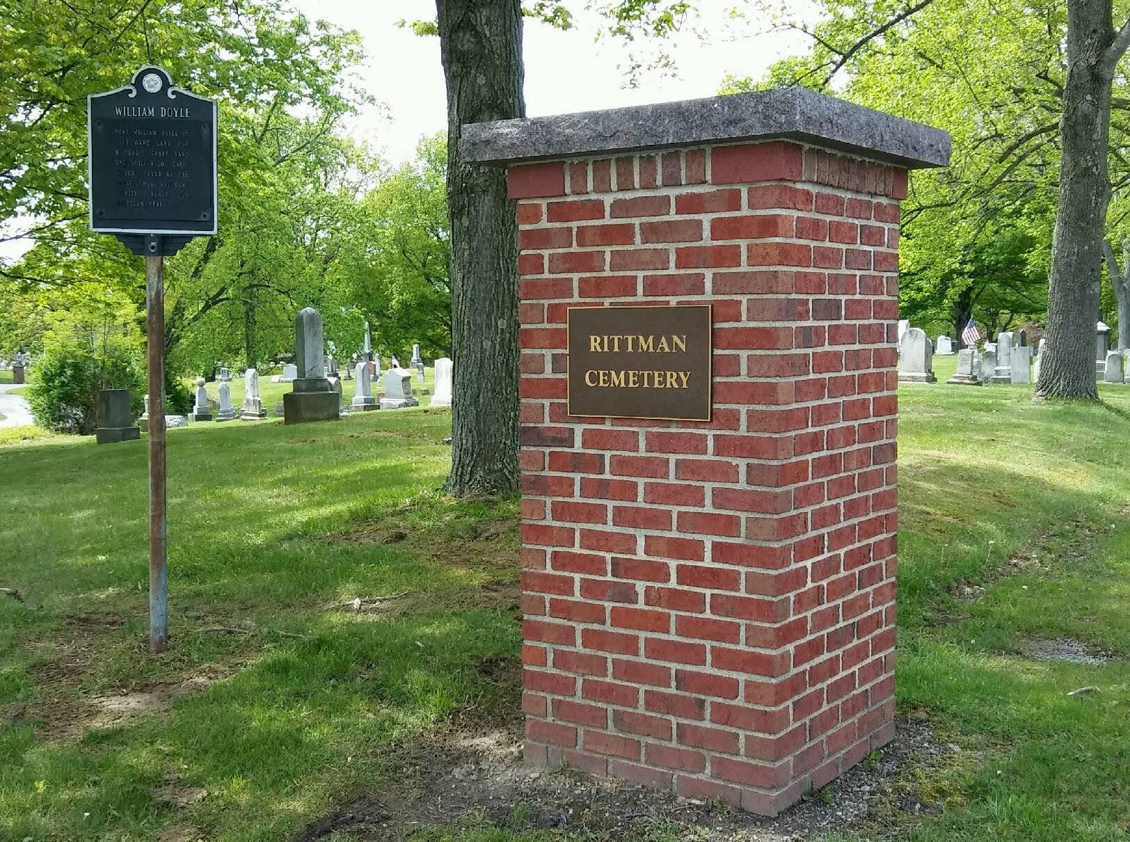 RED BRICK PILLAR CEMETERY ENTER